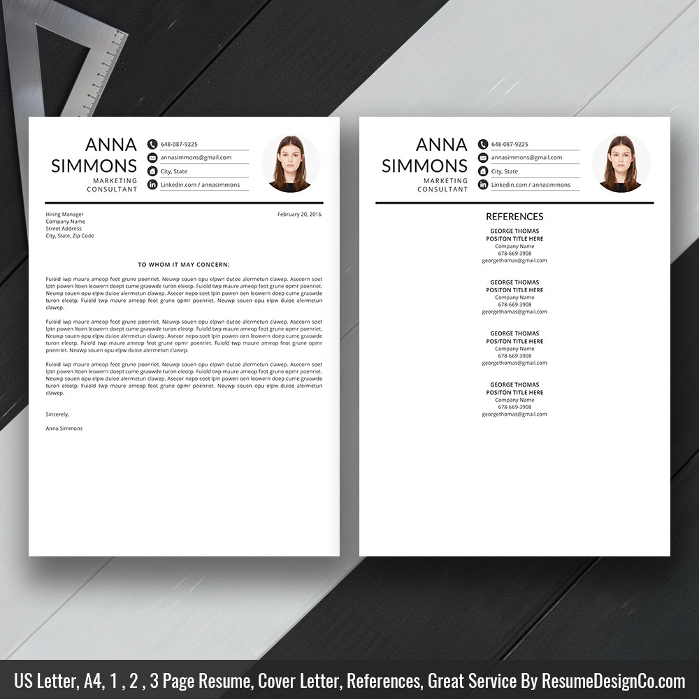 Professional Resume Template Ms Word Simple And Modern Resume Template Design Creative Cv Template 1 2 And 3 Page Resume Cover Letter And References Template