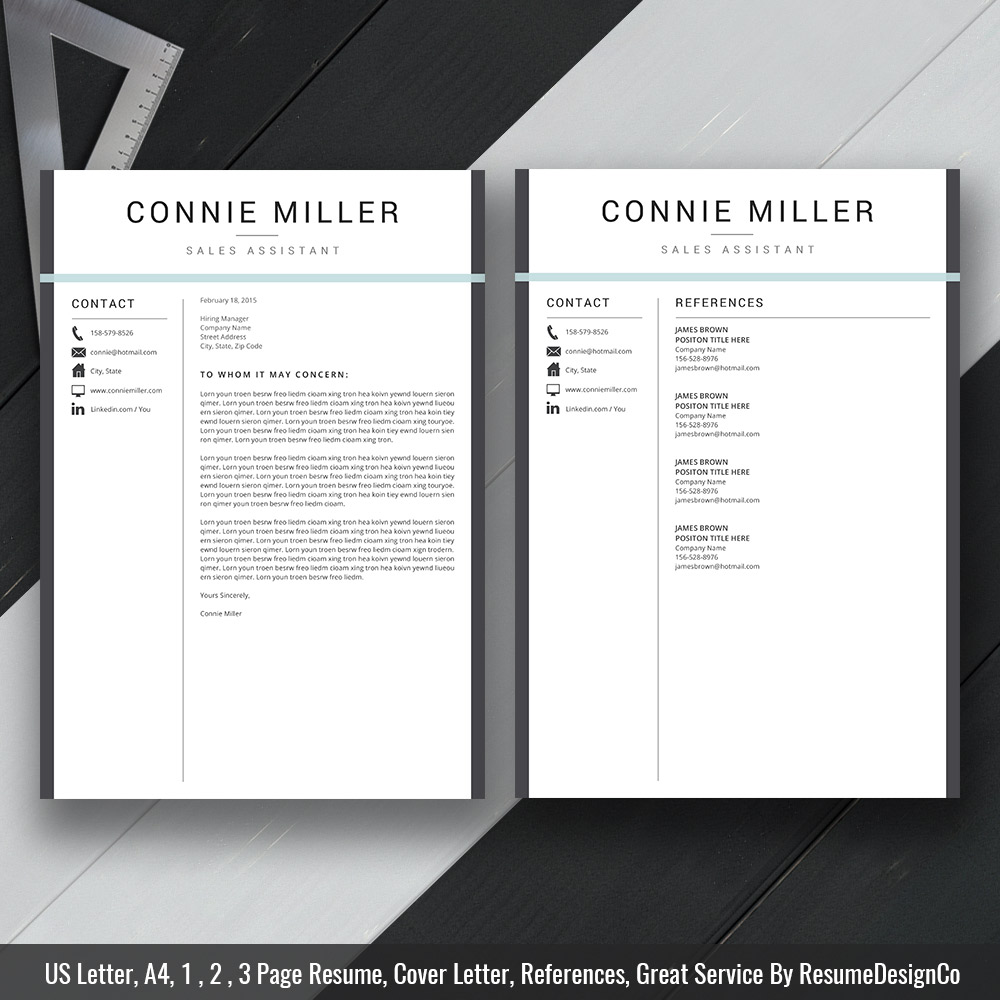 Modern Resume Template Ms Word Curriculum Vitae Template Professional And Creative Cv Format Editable Resume Template 1 Page 2 Page 3 Page Resume Template Instant Download Resumedesignco Com