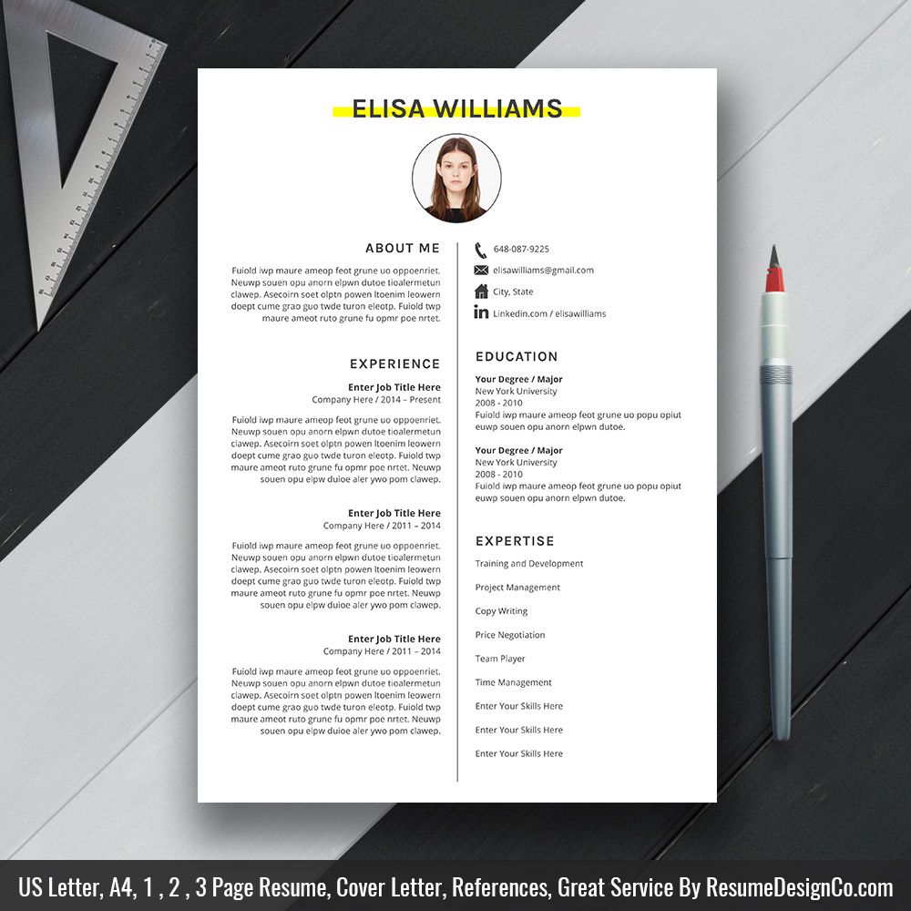 Ms Word Resume Cv Template