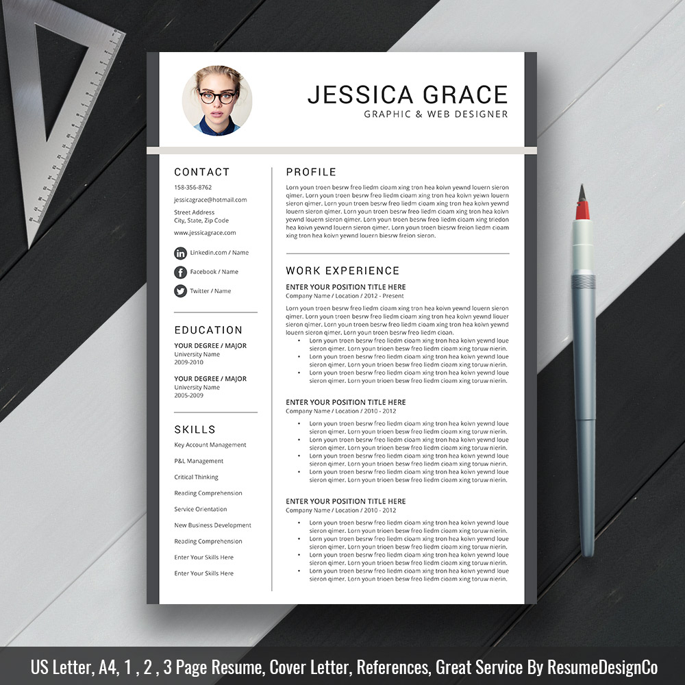Teacher Resume Template Ms Word Simple And Modern Resume Template