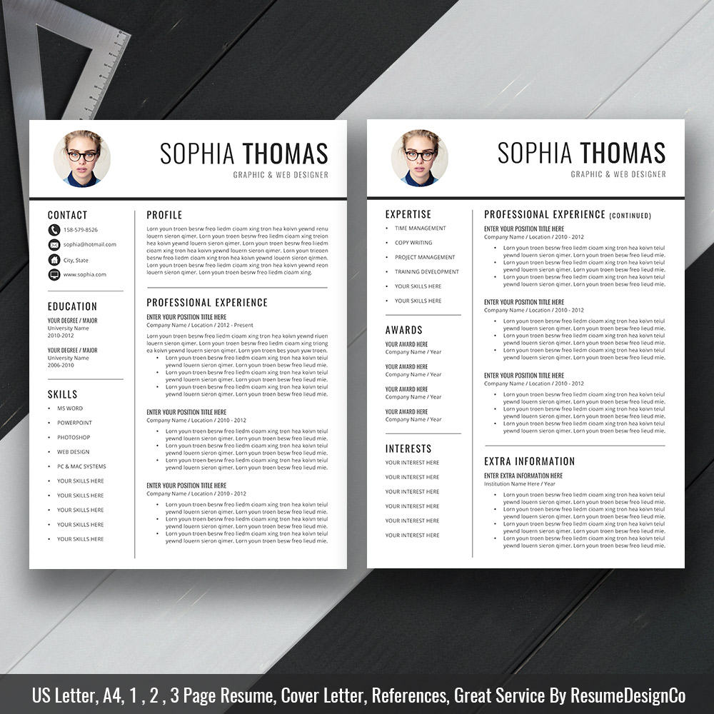 Creative Resume Cv Template For Ms Word Modern Curriculum Vitae
