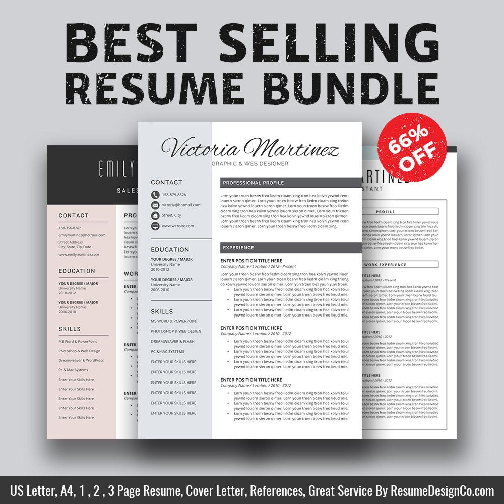Best Selling Ms Word Resume Bundle Bundle For 2020 Jobs Finders